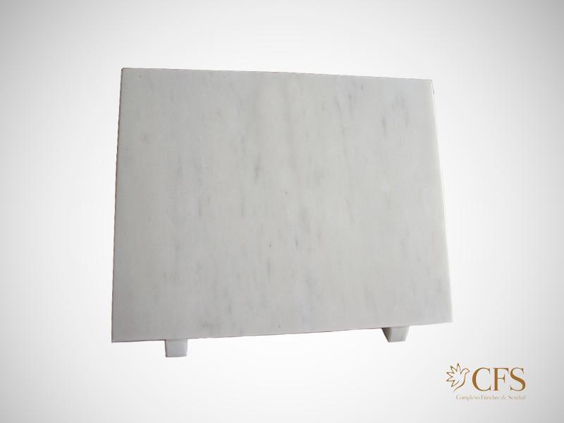 Placa simples em mármore